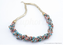 Multicolour Braided Necklace