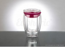 Pink Glass Tea Mug