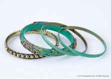 Ethnic Jade Bangle Set