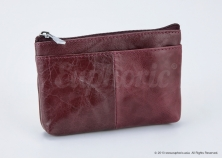 Purple Leather Pouch
