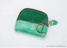 Emerald Suede Pouch