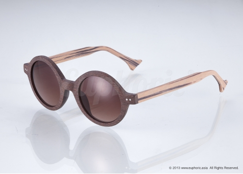 Luna – Brown Circle Sunglasses