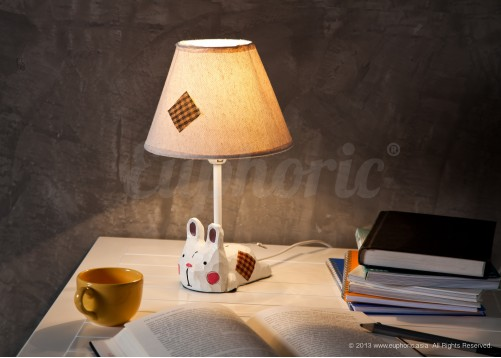 Rosy Rabbit Lamp