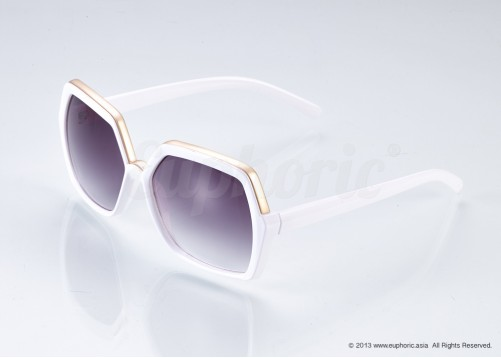 Evie – White Geometric Shades