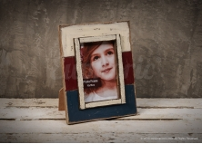 Red White Blue Photo Frame